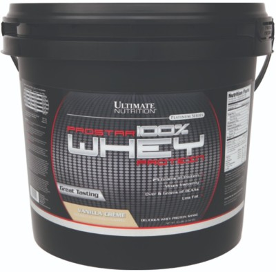 Ultimate Nutrition Prostar 100% Whey Protein(4.54 kg, Vanilla Cream)