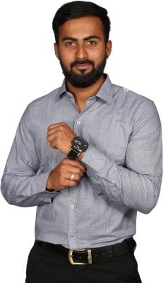 BLACK N WHITE Men Self Design Formal Shirt