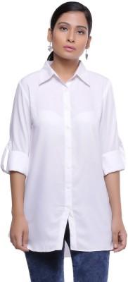 Naksh Jaipur Women Solid Casual Spread Shirt