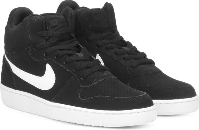 Nike COURT BOROUGH MID Sneakers For Men(Black, White) 1