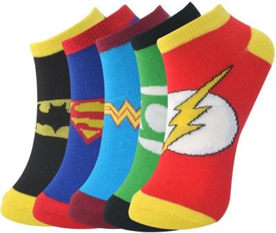Novasox Men's Graphic Print Ankle Length Socks(Pack of 5)