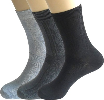 Novasox Men's Checkered Mid-calf Length Socks(Pack of 3)
