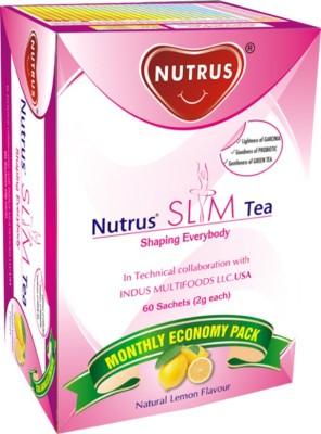 Nutrus Slim Green Tea with Garcinia and Probiotics Lemon Green Tea(60 g, Box)  available at flipkart for Rs.540