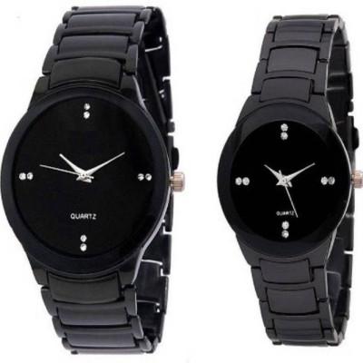 swan IIK COLLECTION BLACK COUPL Analog Watch   For Men   Women swan Wrist Watches