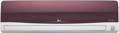 LG 1.5 Ton 3 Star BEE Rating 2018 Split AC  - White, Maroon(JS-Q18TWXD1, Copper Condenser)   Air Conditioner  (LG)