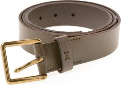 Tommy Hilfiger Men Green Genuine Leather Belt