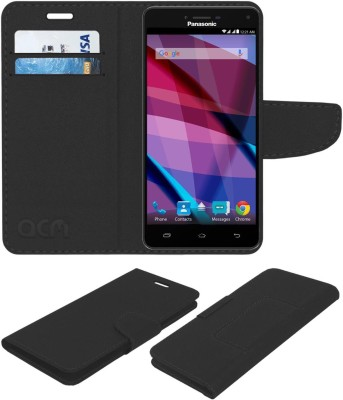 ACM Flip Cover for Panasonic Eluga Icon 2(Black, Cases with Holder, Artificial Leather)