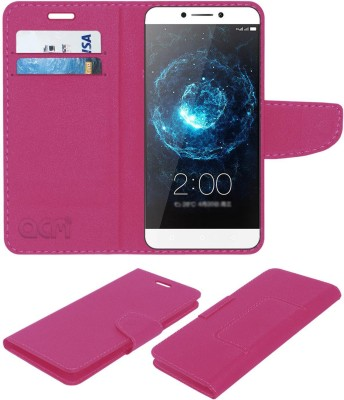 ACM Flip Cover for LeEco Le Max2(Pink, Cases with Holder, Artificial Leather)