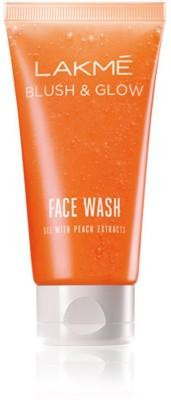 Lakme Blush And Glow Peach Gel Face Wash (50gm)