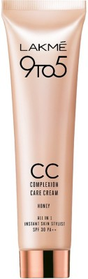 Lakme 9 to 5 Complexion Care CC Cream Foundation  (Honey, 30 g)
