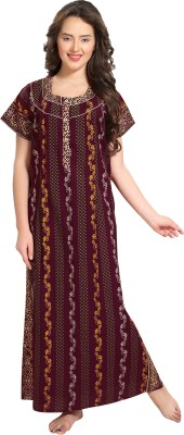 AV2 Women Nighty(Maroon)