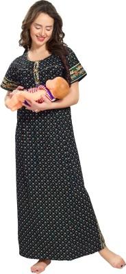 AV2 Women Maternity/Nursing Nighty(Blue)