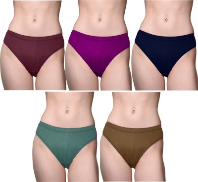 roman Women Hipster Purple, Green, Blue, Brown, Light Green Panty(Pack of 6)