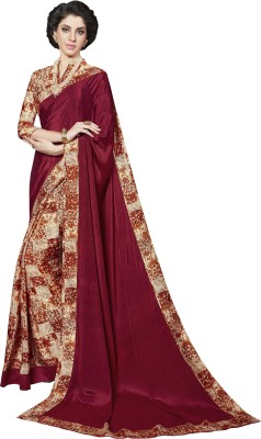 The Fashion Outlets Printed Bollywood Crepe, Silk Saree(Yellow)