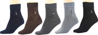 Maroon Men's Solid Ankle Length Socks(Pack of 5)