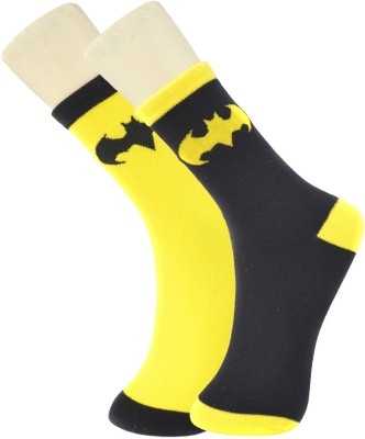 Novasox Men's Printed Mid-calf Length Socks(Pack of 2)