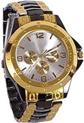 swan ROSRA BLACK GOLD SILVER DIAL MEN'S WATCH Analog Watch   For Men swan Wrist Watches