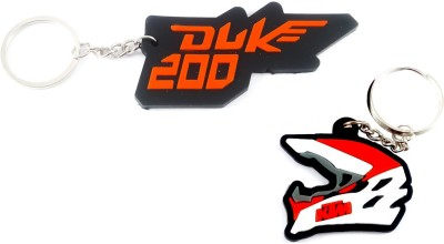 ShopTop KTM Combo Rubber keychain ( KTM200 logo and Helmet) Key Chain(Multicolor)  available at flipkart for Rs.142