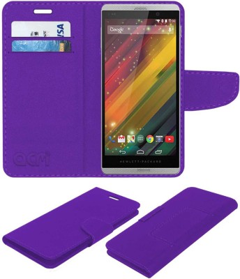 ACM Flip Cover for Hp Slate 6 Voicetab 2(Purple, Cases with Holder)