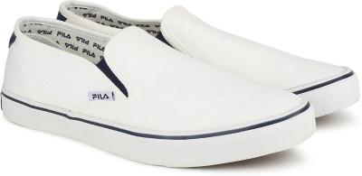 f125c0ad8cc1 32% OFF on Fila RELAXER V Slip On Sneakers For Men(White) on ...