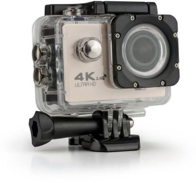 Systene Powershot Ultra HD 4K WIFI Waterproof 2 inch LCD Display 12 Wide Angle Lens Full Sports AC56 1080P (Gold) Sports and Action Camera(Gold 16 MP) 1