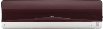LG 1 Ton 3 Star BEE Rating 2018 Inverter AC  - Burgundy, White(JS-Q12RUXA, Copper Condenser)   Air Conditioner  (LG)