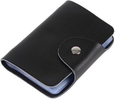 Menzy Credit Debit Or Atm Card Case Wallet For Men Women 24 Card Holder(Set of 1, Black)