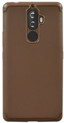 Coverage Back Cover for Lenovo K8 Plus(Brown, Rubber)