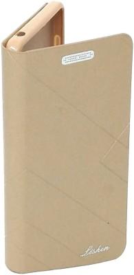 STUDOZ Flip Cover for studoz Premium Imported Royal Lishen Flip Flip Diary Flip For Motorola Moto E4 Plus Gold(Gold, Artificial Leather)