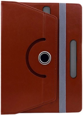 Cutesy Flip Cover for iBall Slide 6318i(Brown, Cases with Holder)