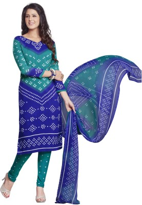 Drapes Crepe Printed Salwar Suit Material Unstitched