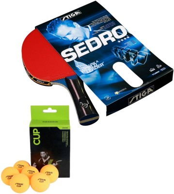 Cosco Stiga Sedro Table Tennis Bat ( Pack of 1 ) With Cup Ping Pong Table Tennis Ball ( 6 Balls ) Table Tennis Kit  available at flipkart for Rs.3890