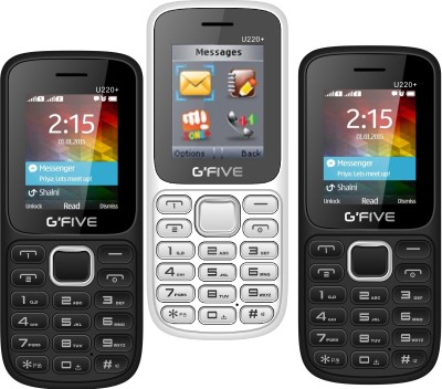 Mymax M30 Combo Of Two Mobiles(Black&White)