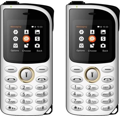 I Kall K14 New Combo of Two Mobiles(White & Gold)