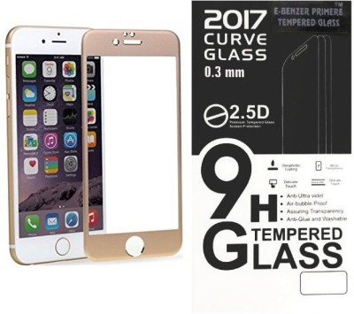 E-benzer Edge To Edge Tempered Glass for Apple Iphone 6/6s Gold color guard (4.70 inch)
