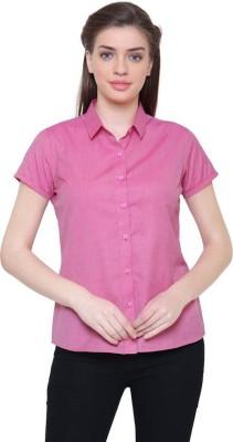 Ladybird Women Solid Formal Pink Shirt
