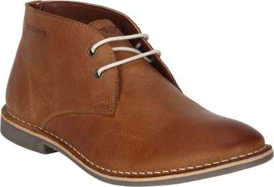 Red Tape Leather Chukka Boots For Men (Tan)