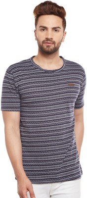 The Dry State Striped Men Round Neck Multicolor T-Shirt