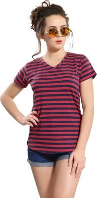 AV2 Casual Half Sleeve Striped Women