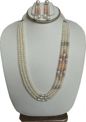 Sri Bansilal Pearls Mother of Pearl Jewel Set(White) at flipkart