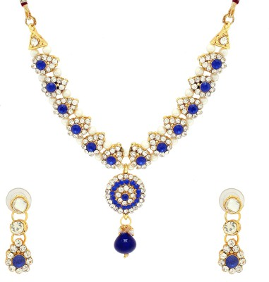 Luxor Alloy Jewel Set(White, Gold, Blue)  available at flipkart for Rs.349