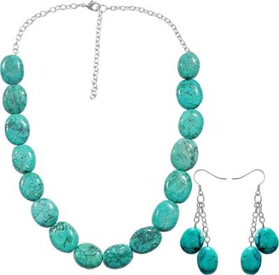 Kenway Retail Stone Jewel Set(Blue) at flipkart