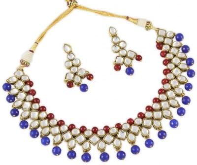 Karatcart Alloy Jewel Set(Red, Blue) at flipkart