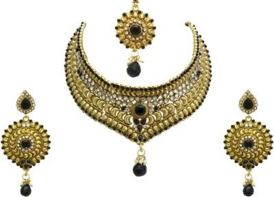 Aarnaa Alloy Jewel Set(Black) at flipkart