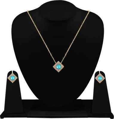 Fabfashion Alloy Jewel Set(Green, Gold) at flipkart