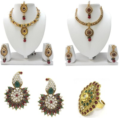 Aarnaa Alloy Jewel Set(Multicolor) at flipkart