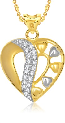 VK Jewels Sparkling Heart Gold-plated Cubic Zirconia Alloy Pendant