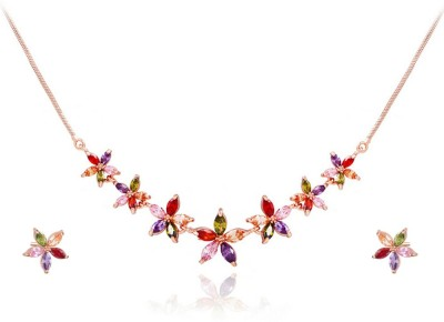 Yellow Chimes Alloy Jewel Set(Multicolor) at flipkart