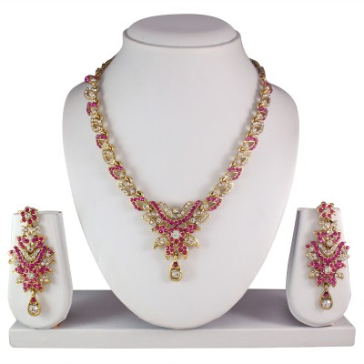 Atasi International Alloy Jewel Set(Pink) at flipkart