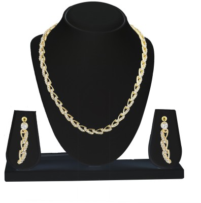 Savvy Brass Jewel Set(Gold) at flipkart